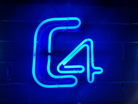 Slick neon branding of Fayetteville's only gay bar, and largest dance club